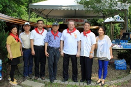 Председатель РК Тайвань А. Браславский с членами Ассоциации ветеранов Армии Тайваня