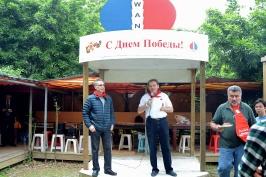председатель РКТ А. Браславский и руководитель Представительства МТК В. Добровольский открывают встречу